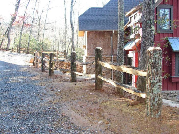 Custom Locust Wood Split Rail Fence